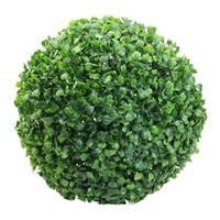 bolas de buxo venda por atacado-Popular artificial planta bola árvore boxwood casamento evento casa decoração ao ar livre (30 cm / 11.81