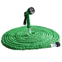 Wholesale Timer House - Watering Irrigation Garden Hoses Reels New 25FT-100FT Garden House Expandable Flexible Latex Tube Water Hose Pipe With 7 in 1 Spray Gun