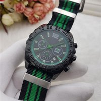 Wholesale Designer Men Watches Automatic - Casual AAA watches men luxury brand Designer CR7 3 Eyes work Automatic Date Quartz Stopwatch Nylon band Wrist watches for men's Wholesale