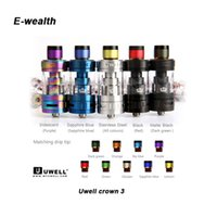 Wholesale Wholesale Metal Crowns - Authentic Uwell Crown 3 III Atomizer 5ml Top Filloing Airflow Control Sub ohm Tank For 510 thread Mod