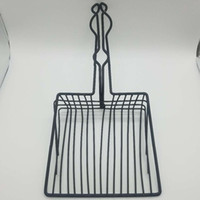 Wholesale stainless steel products online - Metal Pet Faeces Shovel Resistance To Fall Black Cat Feces Leak Shovels Portable Quick Filter Pets Supplies Firm dj B