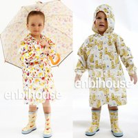 Wholesale Rain Gear Boys - Kids Raincoat Cartoon One Piece Rainsuit Summer Penguin Bird for Boys Girls Hooded Jumpsuit Children Rain Gear New