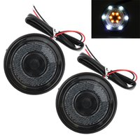 2PCS 12V Universal Side Light LED Car Light Reflector de cor dupla para motocicletas MOT_20V