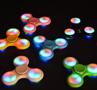 Wholesale Claw Led - Fidget Spinner LED 6 design Hand Spinners plastic Leaf Spiners Crab Claw Anti-Anxiety Decompression Toys EDC