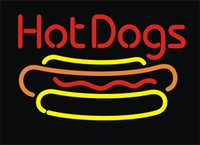"Wholesale Hot Dog Bar - Hot Dogs Barbecue Neon Sign Beer Bar Store KTV Club Pub Customized Real Glass Advertised Display Neon Signs 17""X14"""