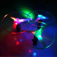 Plastik Fliegen Spielzeug Outdoor Fun Sport Disk Frisbees Flying Saucer Bumerang Arbalest Glowing UFO Copter Clover Spin LED Licht