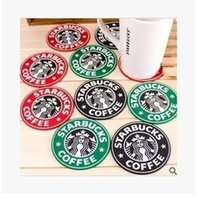 Wholesale Starbucks Milk Cup - Cup Mats Pads Starbucks Silicone Coaster Round Patemat Mug Coffee Milk Cup Insulation Mat Pads able Decoration Accessories Free shipping