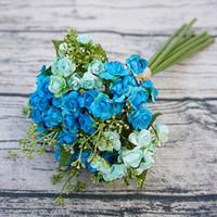 Wholesale Wholesale Mini Paper Flowers - Japanese style mix mini paper flower and artificial Spike flower for wedding bride hand flowers bouquet DIY decoration 1 bouquet