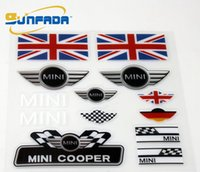 Wholesale Uk Flag Sticker - Car Stickers Sport Style UK Flag Decoration Car Stickers For BMW MINI JCW Cooper Countryman Clubman Car Styling