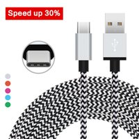 Wholesale Wire Braided Sale - Factory Sales 2M 6ft Type C Cable Alluminum case Nylon Braid Wire Charge Line USB-C cables For Macbook LG G5 Fast Shipping