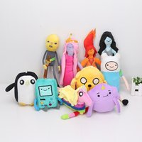 Wholesale Beemo Plush - 10pcs set 10 styles Adventure time Plush Toys Jake Finn Beemo BMO Penguin Gunter Stuffed Animals Plush Dolls Soft Toys