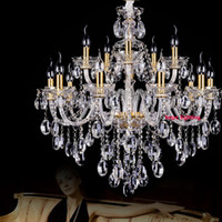 Wholesale led maria theresa chandelier - chinese hotel crystal chandelier modern candle crystal chandeliers candle bedroom hotel maria theresa chandeliers antique crystal chandelier