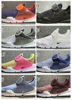 Wholesale Womens Cotton Socks - 2017 New Air Presto Mens Womens Running Shoes Black Gray Sock Dart SE Boot Cheap Men Sport Shoes Outdoor Trainers Sneakers huarache
