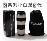 Wholesale Cpam Coffee Camera Lens - Wholesale- Free shipping Send by FedEx 60pcs lot CPAM stainless steel Coffee camera mug cup 2th