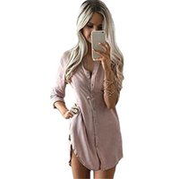 Wholesale High Neck Dresses For Women - 2017 Autumn Women Dresses With Solid Printing High Quality For Black Dresses Women V Neck Mini Casual Beach Vestidos Women Clothes