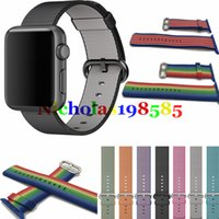 Wholesale Like Watches - Colorful Woven Nylon Watch Band Watchband Replacement For Apple Watch Fabric-like Feel Wrist Strap With Metal Adapter for iwatch 38mm 42mm