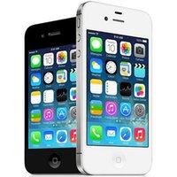 Wholesale 2pcs Dual Core - Refurbished Original Apple iPhone 4S Unlocked Mobile Phone IOS 8 8 16 32 64GB 3.5 inch IPS Dual Core WIFI 3G WCDMA Smart Phone Free DHL 2pcs