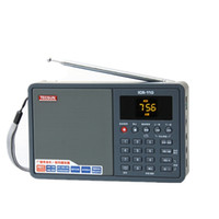 mw mp3 venda por atacado-Atacado-Tecsun ICR-110 FM / MW Rádio REC Recorder MP3 WAV Player com bateria Rádio AM / FM Radio Preto / Prata / Vermelho 800445