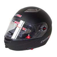 Wholesale ls2 helmet open face - LS2 ff370 motocross helmet motorcycle open face double lenses racing flip up helmet 100% Genuine