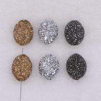 Wholesale Egg Shaped Beads - Egg shape pendant Pave Whole rhinestone fashion Pendant bead mix color Jewelry findings women Fashion 2106