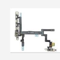 ingrosso pulsante di alimentazione di apple iphone-NUOVO originale per iphone5 5s 5c sostituzione pulsante di alimentazione Pulsante volume interruttore Sleep Wake Flex Cable Staffa in metallo per iPhone 6 plus