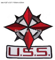 """Wholesale Services Security - 4.3"""" RESIDENT EVIL USS Umbrella Security Service Movie TV Series Costume Cosplay Embroidered Emblem applique iron on patch"""