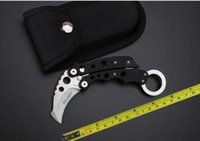 Wholesale pocket fishing - FREE shipping NEW Claw Karambit CNC G10 Handle 440 Steel Folding Pocket Claw Knife SR199C
