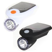 Wholesale Flashing Warning Light Solar - Solar Energy Rechargeable USB Bike Lights Flashing Front Head Flashlight Cycling Bicycle LED Warning Lamp Sport Lighting New