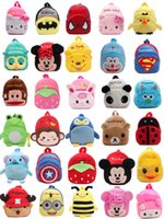 Wholesale Army Toys - New Character Kids Candy Toys Bags Children Backpacks Lovely Plush Cartoon Kids School Bags Backpack Wholesale