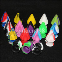 Wholesale Toy Pipes - DHL Free silicone oil jar Mini Silicone Mouthpieces Nozzle Pipe Silicone Nectar Collector Honeycomb Smoking Accessories For Oil Rig Bongs