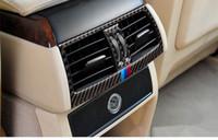 Wholesale 3d Carbon Fiber Parts - Apply to BMW X5, X6 carbon fiber interior trim parts, X5, X6, rear air conditioning, air outlet decorative stickers