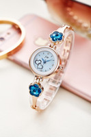 Wholesale Sapphire Blue Ivory - brand quartz watch women bracelet watch sapphire dress wristwatch jw brand fashion woman clock flowers gold silver gift timepiece