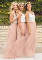 Wholesale Cheap Mermaid Maxi Dress - Under 50 Hot Cheap Bridesmaid Dresses Tulle Skirt Blush Prom Dresses Bridesmaid Maxi Skirt Evening Party Gowns
