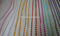 Wholesale Beaded Crystal Curtains - Wholesale-15m lot Chandelier wedding Crystal tree decoration colorful acrylic octagon beaded curtain garland