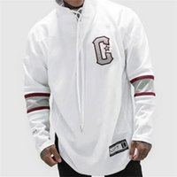 Wholesale Long Workout Tops - Fashion Men Cotton Bodybuilding Gyms Hoodie Tracksuit Tops Muscle Fit Gyms Clothing Casual Men Hoodie Workout Sweatshirt Clothes