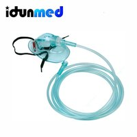 Wholesale Medical Masks Wholesale - idunmed Medical Oxygen Mask With Tube Flexible Headgear For Oxygen Concentrator Machine Pack Of 2 Free Shipping