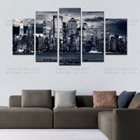 Wholesale Wholesale Home Decor Modern Cheap - Canvas Painting 5 Piece Wall Decor Canvas Home Decoration Wall Art Pictures Landscape Large Canvas Art Cheap -- Modern Painting
