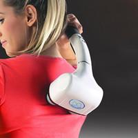 Wholesale Double Head Massager - Double Head Massager Stick Waist Neck Full Body Massager Infrared Electric Massage Hammer 2016 New Design Massager 0602045