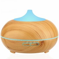 Wholesale Home Oxygen Bars - 300ml Aroma Essential Oil Diffuser Wood Grain Ultrasonic Cool Mist Humidifier for Office Home Bedroom Living Room Study Yoga Spa