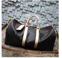 marka çanta kadın büyük toptan satış-60 CM Erkekler duffle çantası 2018 yeni moda kadınlar seyahat çantası, marka tasarımcısı bagaj çanta büyük kapasiteli spor çantası