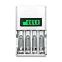 nimh aaa bateria recarregável venda por atacado-903 carregador de bateria inteligente da UE EU da exposição do LCD de 4 entalhes para baterias recarregáveis de AA / AAA NiCd NiMh