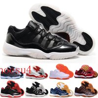 2017 Rétro 11 Bas Olympique Metallique Or Blanc Varsity Rouge Cerisier Marine Gomme Concord Baskets Chaussures Sneakers Femmes Hommes 11s Lows XI Sport