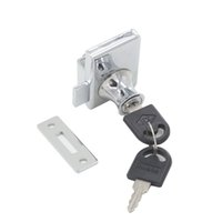 Wholesale Glass Door Showcase - 1pc Silver Tone Metal Single Double Glass door Lock Fit For 5-8mm Thickness Glass With Keyed Alike Different Keys for Showcase Cabinet Box