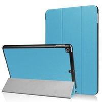 Wholesale Ipad Air Tri Fold Cover - For ipad pro 10.5 Tri Folding folio Ultra Slim Smart Cover For Apple iPad 2017 9.7 Case PU Leather Stand Cases