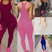 Wholesale Ladies Party Jumpsuits - 2017 Summer Ladies Sexy Party Playsuits Overalls Women Casual Sleeveless Bodycon Romper Jumpsuit Club Bodysuit Long Pants CWJ0059