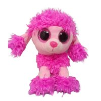 Wholesale Big Dog Plush Toys - Wholesale- Ty Beanie Boos Big Eyes Plush Toy Doll Pink Dog Stuffed Animals Soft Doll Baby Kids Gift 10 - 15cm