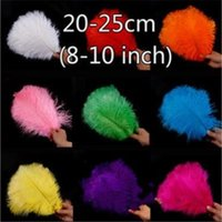 Wholesale feathers 25 inches for sale - 100pcs inch cm artificial ostrich feathers bulk for diy indian headband wedding decoration craft