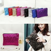 Wholesale Women Wallet Fashion Style Sparkle - Newest Fashion Dazzling Glitter Sparkling Bling Sequins Evening Party purse Bag Handbag Women Clutch wallet
