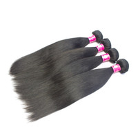 brazilian bakire indian saç toptan satış-8pcs / lot 6A Peru Kamboçyalı bakire düz saç 1B doğal siyah remy insan saçı uzantıları yumuşak Brezilyalı düz saç atkı örgüleri