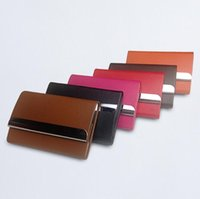 Wholesale Name Case - 2017 New Bussiness name card holder PU Leather ID card case credit Card organizer wallet